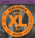 D'Addario EFX160 FlexSteels Bass [Medium, 50-105, Long Scale]