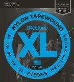 D#039;Addario Black Nylon Tapewound ETB92-5[D''Addario Black Nylon Tapewound ETB92-5]