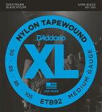 D#039;Addario Black Nylon Tapewound ETB92[D''Addario Black Nylon Tapewound ETB92]