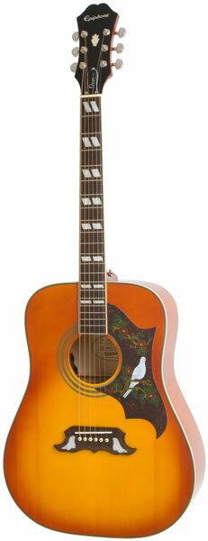 Epiphone by Gibson DOVE PRO (Violinburst) 【エピフォン純正ストラッププレゼント】 【エレクトリック・アコースティックギター】★今なら当店内全商品ポイント5倍です!