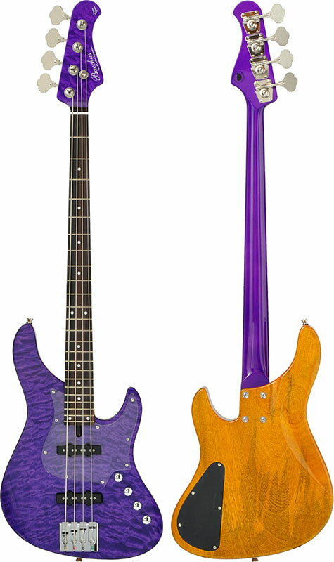Bacchus GLOBAL Series IKEBE ORIGINAL HWL4-CUSTOM24/MG [4-strings Bass] (AMT/アメジスト)