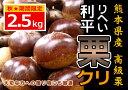 栗「利平栗」九州・熊本JAたまな産2.5kg。【送料無料】