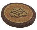 トクラ A.S.マンハッタナーズ [影付猫] マチ付クッション 直径45x5cm