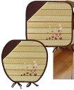 刺繍シリーズ [舞桜] 角クッション BE 43x43cm
