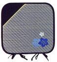刺繍シリーズ [花模様] 角クッション BL 43x43cm