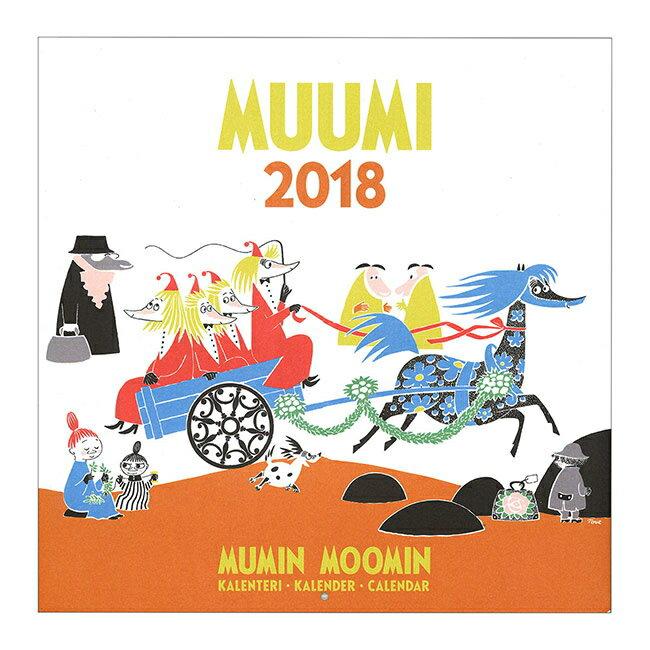 ムーミン 壁掛け カレンダー2018年 カラー(ムーミン 原画 カレンダー 北欧 フィンランド ムーミングッズ 雑貨 インテリア Moomin)