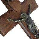 【中古】アンティーク キリスト 十字架 壁掛け キリシタン ヨーロッパ ヴィンテージ インテリア雑貨 磔 信仰 クロス