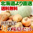 北海道新鮮野菜 旬の味覚セットじゃがいも約2kg、かぼちゃ1個、玉ねぎ約1kg、人参約1kg 送料無料 贈り物 ギフト