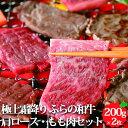 肉 ギフト 【極上霜降り ふらの和牛 焼肉セット肩ロース・もも肉(各約210g)】 北海道産 送料無料