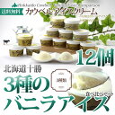 アイスクリーム お歳暮 ギフト 【 北海道 十勝カウベルアイスクリーム 80ml×12個セット バ