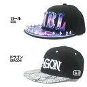 帽子 キャップ 野球 アイランド (I'LAND) ベースボールキャップ 野球帽 ドラゴン ガール スタッツ 派手 B系 /DRAGON ドラゴン/GIRL ガール メンズ(男性用) レディース(女性用) BASEBALL CAP 5006