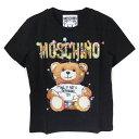 モスキーノ Tシャツ レディース MOSCHINO コットン Teddy Bear HolidayジャージTシャツ ブラック 3XA0798 4040 1555