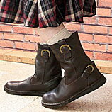 Leather ナチュラルペコス boots ♪ engineer boots in simple and friendly atmosphere! ★ N5314 your friend maker