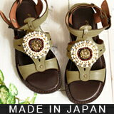 Bohemian エスニックビジュー flat Sandals Gladiator natural, unwittingly rubbed my ★ 0420 ベルオリジナル fs3gm