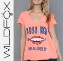 送料無料 即日発送 Wildfox ワイルドフォックス The Youll Love It V-Neck Vネック半袖Tシャツ 【正規品取扱店舗】【楽ギフ_包装】 【コンビニ受取対応商品】
