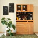 キッチンボード ダイニングボード 食器棚 レンジボード オーク材の木目の美しい日本製のシリーズ レンジ台 【OCTA オクタ】 キッチン収納 ダイニング収納 105KB