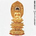 仏像 【木製 純金並京 座弥陀 肌粉】 3.5寸