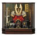 五月人形 兜 兜ケース飾り 兜飾り コンパクト 六角鞍馬10...