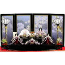 雛人形 ひな人形 雛 二段飾り 五人飾り RO420S61 衣裳着人形お雛様/紫色/パール/展示現品