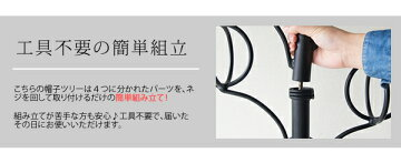 DS-P1708DelSol(デルソル)帽子ツリーBK/WH