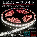 LEDテープ 防水 野外使用可能 ルミナスドーム SMD2835(60)白色(4000K)3m ACアダプタ