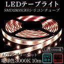 ledテープ 防水 屋外 照明 ルミナスドーム SMD2835(30) 電球色 (3000K) 10m dcプラグ