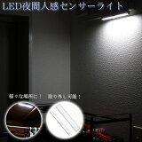 【メール便で送料無料】LED夜間人感センサーライト LED10灯 白色 取外し可能なので防災用ライトにも