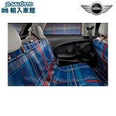 【 MINI BMW 純正 】ユニバーサルリアシートカバー/スピードウェル・ブルー ミニ 3ドア(F55)/5ドア(F56)