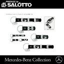 Mercedes-Benz 純正セレクション ☆ メルセデス ベンツキーリング キーホルダー牛革+ステンレススティール
