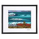 """【予約販売】【フレーム付き&ポイント10倍】ヘザーブラウン/HEATHER BROWN""""ART PRINT W50.8×H40.6cm・SURF GIRL・アートプリント・サーフガール""""Lサイズ横・サイン入り・絵画HB9127P/SURF GIRL"""