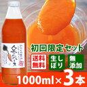 【初回送料無料】甘くておいしい しぼりたて無添加にんじんジュース お試しセット(1000ml×3本) 安心の国産 人参ジュース