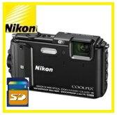 【送料無料】Nicon・ニコン GPS搭載 水深30M防水デジカメ COOLPIX AW130 ブラック【***特別価格***】