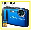 今ならSDカード8GB差し上げます【送料無料】FUJIFILM・フジフィルム 20m防水・1.75m耐衝撃構造デジカメ FinePix XP120 ブルー【楽ギフ_包装】【***特別価格***】