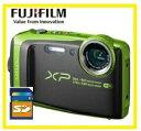 今ならSDカード8GB差し上げます【送料無料】FUJIFILM・フジフィルム 20m防水・1.75m耐衝撃構造デジカメ FinePix XP120 ライム【楽ギフ_包装】【***特別価格***】