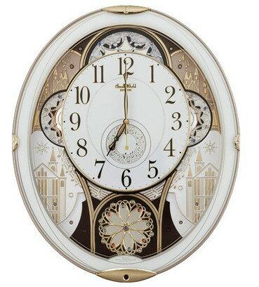 11/30までポイント2倍【送料無料】RHYTHM・リズム時計 からくり電波掛け時計 スモールワールドノエル 4MN509RH03【楽ギフ_包装】