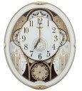 12/31までポイント2倍【送料無料】RHYTHM・リズム時計 からくり電波掛け時計 スモールワールドノエル 4MN509RH03【楽ギフ_包装】