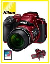 【送料無料】Nikon・ニコン 光学60倍ズーム大画面バリアングル液晶モニター搭載デジカメ COOLPIX B700 レッド【楽ギフ_包装】【***特別価格***】