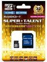 SUPERTALENT microSDHCカード32GB Class10 マイクロSDHCカード32GB ST32MSU1P【***特別価格***】