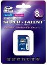 SUPER TALENT SDHCカード8GBクラス10 ST08SDC10【***特別価格***】