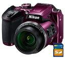 今ならSDカード8GB・カメラケース差し上げます【送料無料】Nikon・ニコン B500PR チルト式液晶光学40倍ズームデジカメ COOLPIX B500 プラム【楽ギフ_包装】【***特別価格***】
