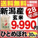 新米 28年 新潟県産 ひとめぼれ 30kg 玄米【送料無料】(一部地域を除く)