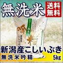 新潟産 こしいぶき 無洗米吟精 5kg 29年【送料無料】(沖縄を除く)