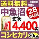 中魚沼産コシヒカリ 30kg 玄米 H28年産 米 【送料無料】(一部地域を除く)