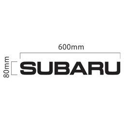 スバル SUBARU ロゴ 切抜きステッカー 600mm×80mm カッティング文字デカール シール