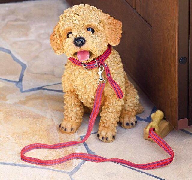 【入荷未定】エイチツーオー H9253 NEWドアストッパー犬 プードル H-9253【メーカー直送】【代引き/同梱不可】【犬のドアストッパー,ガーデン置物,インテリア置物,園芸置物】