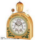 リズム時計 4RA455MN06 トトロR455N 目覚まし時計 となりのトトロ【リズム時計・置時計・クロック】【お取り寄せ商品】【代引不可】
