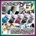 RAYS(レイズ)ジュラルミンロック&ナットセット DURA-NUTS スタンダードタイプ19HEX 5穴用 ■サイズ:M12×1.25/M12×1.5 ■カラー:全5色 ■内容:ナット16個、ロックナット4個、ロックナットソケット1個 ■新品・正規品