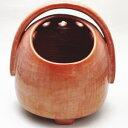 【茶器/茶道具 懐石道具 火鉢】 手焙り 赤楽焼き 鮟鱇型 川崎和楽作