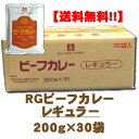 【送料無料】RG ビーフカレー レギュラー200g×30袋箱入り【中辛】