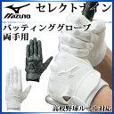 ミズノ 野球 バッティンググローブ セレクトナイン 両手用 1EJEH140 MIZUNO 高校野球ルール対応モデル
